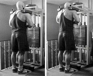 Calf Machine Shoulder Shrugs